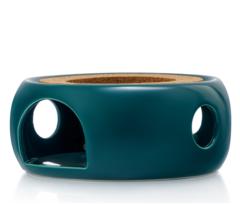 """Подставка-нагреватель """"Prometheus"""" для подогрева чайника свечой керамическая темно-зеленая"""