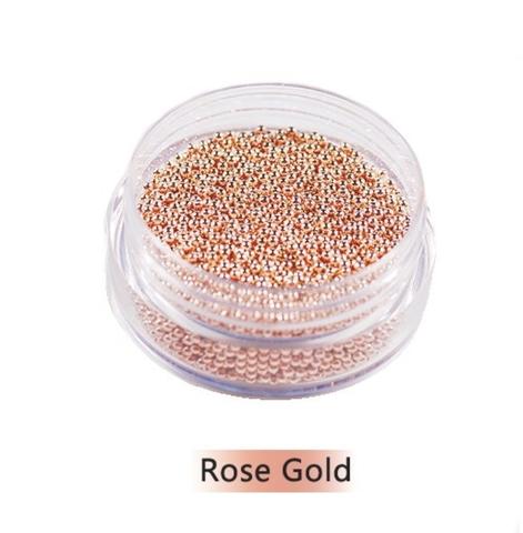Бульонки металл розовое золото (0,6 мм) 10гр