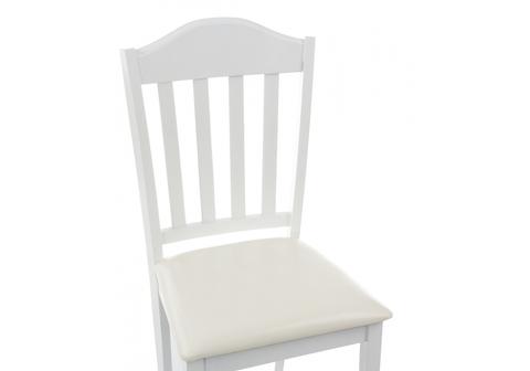 Стул деревянный кухонный, обеденный, для гостиной Midea white 43*43*94 Белый