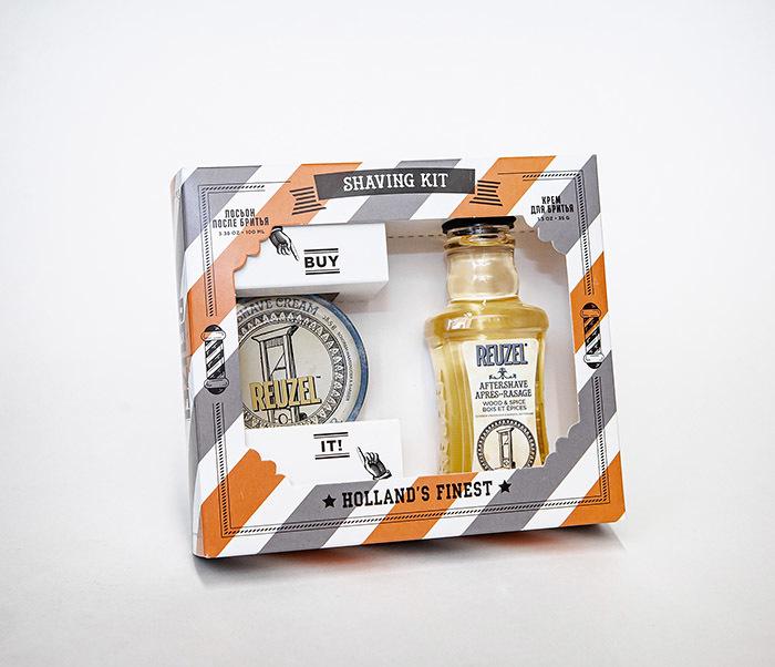 CARE170 Подарочный набор для бритья REUZEL «SHAVING KIT» крем и лосьон фото 06