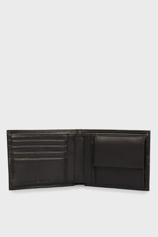 Мужской черный кожаный кошелек TH MONOGRAM EXTRA CC AND COIN Tommy Hilfiger