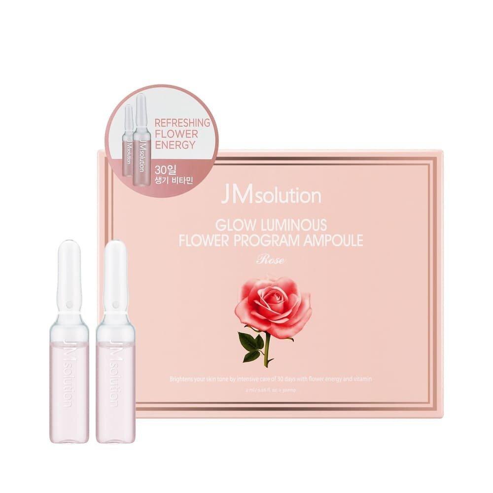 Курс укрепляющих ампул GLOW LUMINOUS FLOWER PROGRAM AMPOULE ROSE