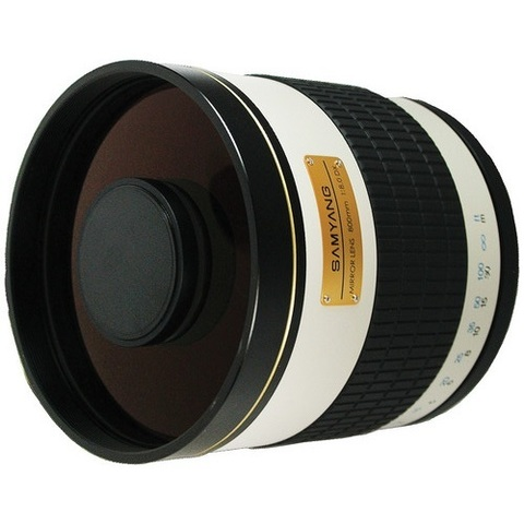 Объектив Samyang 800mm f/8 MC IF Mirror Lens T2 Mount White для Nikon