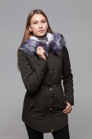 Куртка парка с меховым капюшоном шоурум