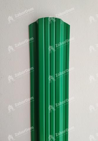 Евроштакетник металлический 115 мм RAL 6029 П - образный 0.5 мм