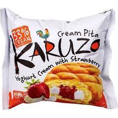 Karuzo Yoghurt Cream with Strawberry Йогуртовый крем с клубникой 62 гр
