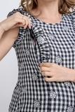 Блузка для беременных и кормящих 09598 синий