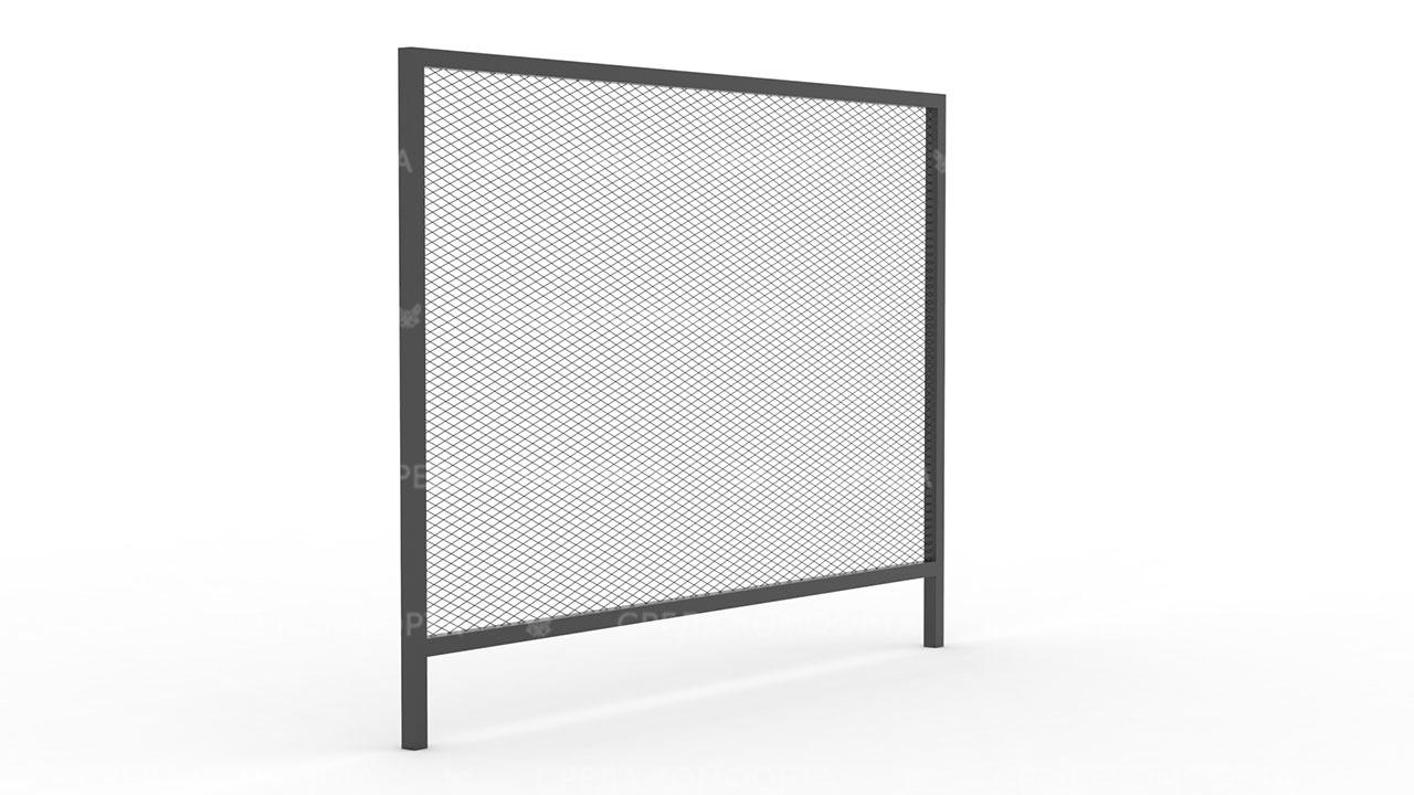Забор из сетки рабицы ZBR0169
