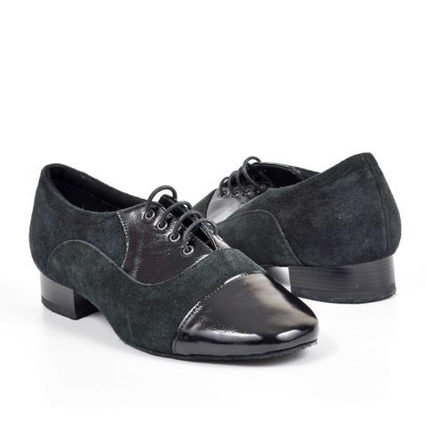 Туфли мужские из замши и лака