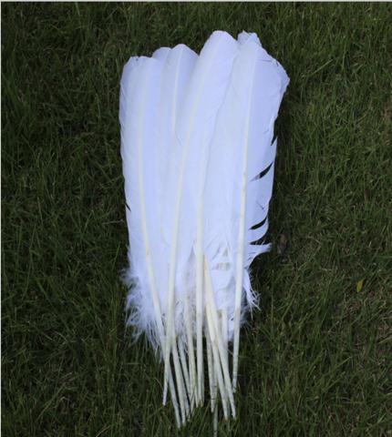 Перья индейки длинные 30-35 см. (цена за 1 шт.) белый
