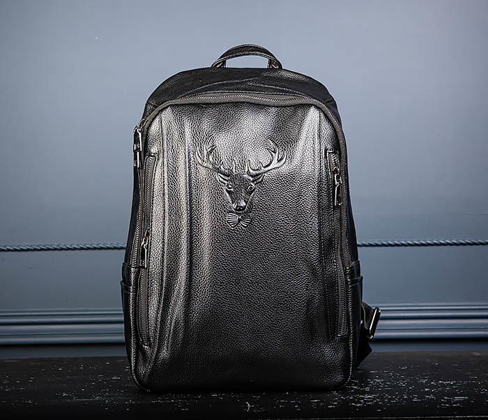 BAG557 Стильный кожаный рюкзак с оленем фото 03