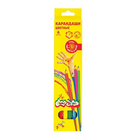 Карандаши цветные Каляка-Маляка, 6 цветов, ККМ06