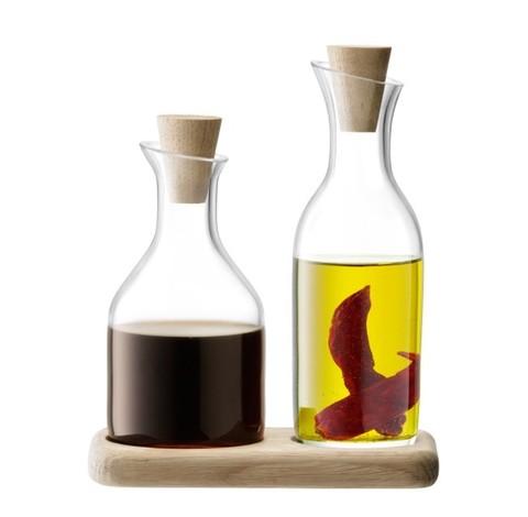 Набор графинов для масла и уксуса на подставке Serve