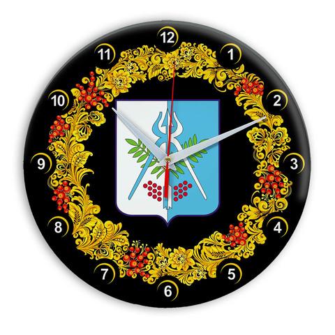 Часы в стиле Хохлома сувенирные Ижевск 03