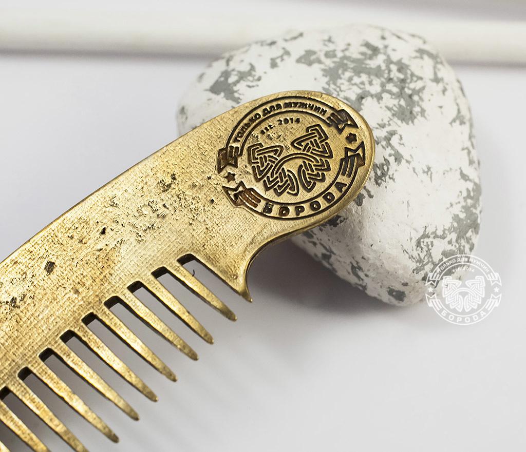 RAZ171-2 Классная фирменная расческа из бронзы фото 02