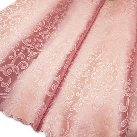 Портьерная ткань 150 см 25 цвет розовый вензель