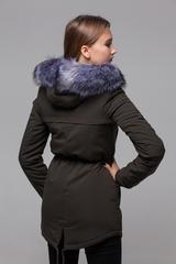 Куртка парка с меховым капюшоном оптом