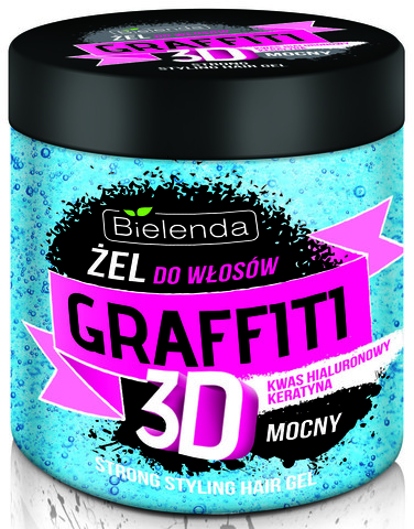 ГРАФФИТИ 3D Гель для волос STRONG (синий ) 250 мл