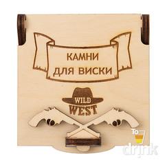 Камни для виски в деревянной коробке Wild West, 9 шт, фото 2