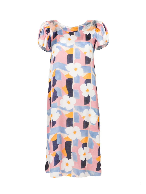 Платье с воротником из пайеток