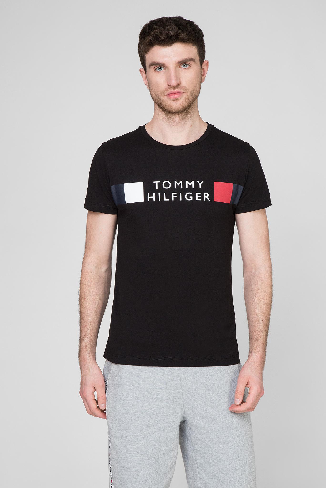 Мужская черная футболка RWB STRIPE Tommy Hilfiger
