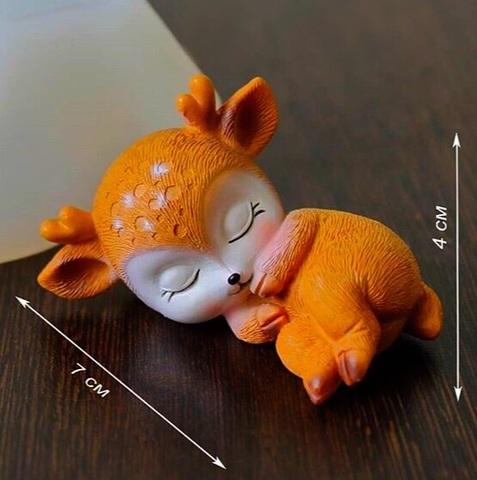 3D ОЛЕНЕНОК НА БОКУ силиконовый молд (70*40мм)