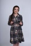 Платье для беременных 08023 клетка