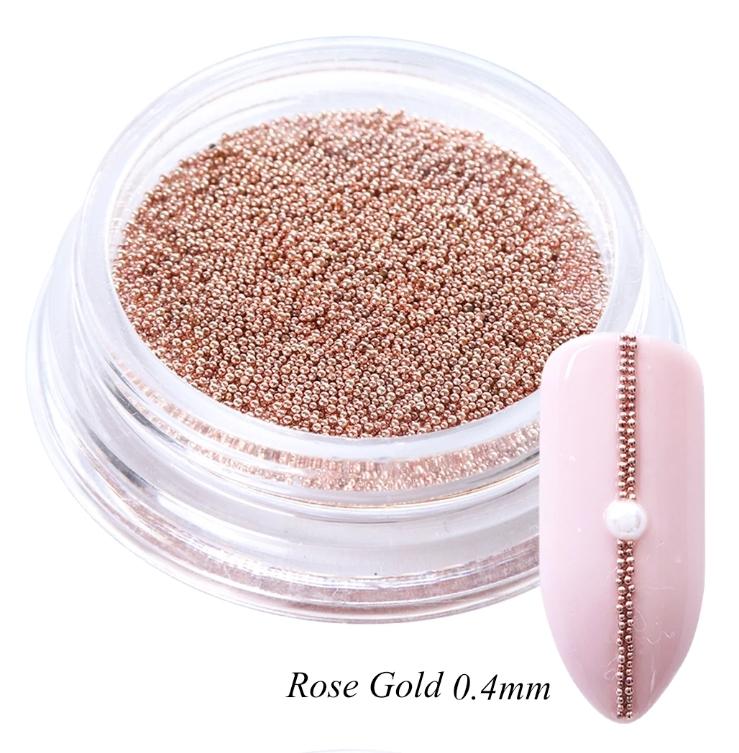 Бульонки металл розовое золото (0,4 мм) 5гр