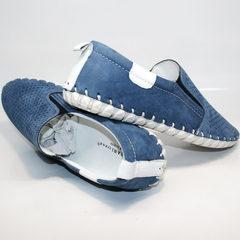 Мокасины мужские голубые Alvito 01-1308 92-86