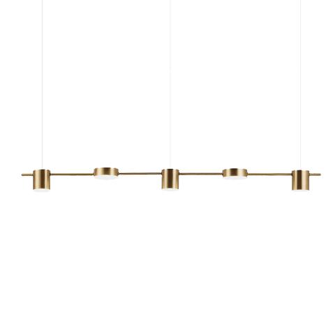 Подвесной светильник Linea by Light Room ( 5 плафонов, золотой )