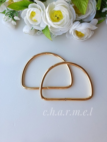 Ручки для сумок металл золото 10х8 см, 2 шт