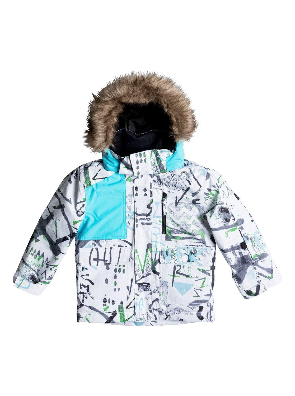 Куртка сноубордическая дет QUIKSILVER Flake Jacket K SNJT WBB7 HIELINE WHT