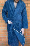 Длинный махровый халат с велюром Luna di Giorno