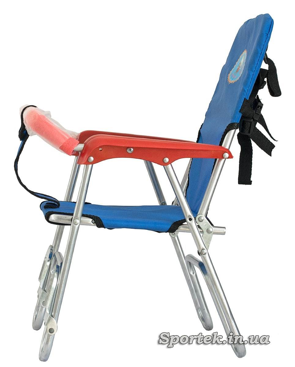 Велокресло детское складное алюминиевое - вид сбоку