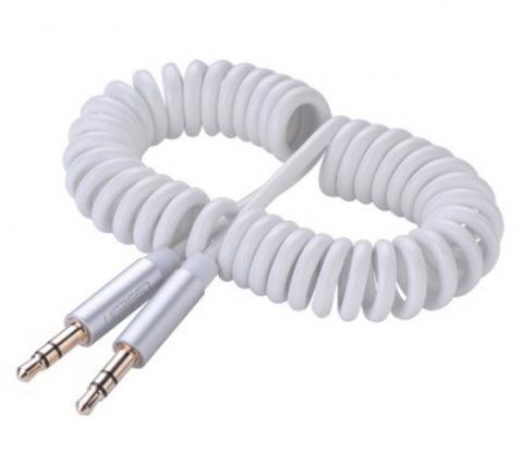 Кабель AUX Belkin (пружина) 2м (тех.пакет) white