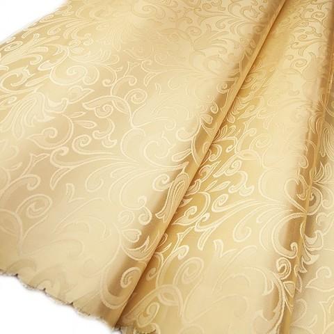 Портьерная ткань 150 см 22 цвет бежевый вензель
