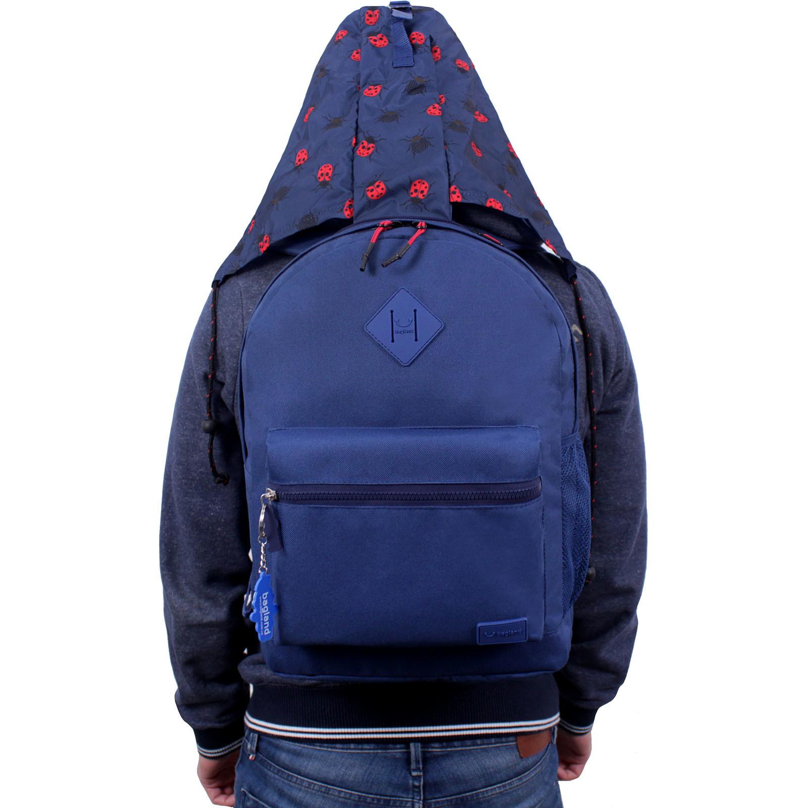 Рюкзак Bagland Hood W/R 17 л. синий 453 (0054466) фото 6