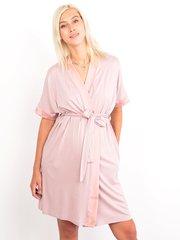 Euromama/Евромама. Комплект халат и сорочка вискозный шелк, сухая роза вид 4