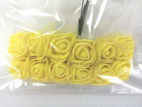 Букет розочек из фоамирана, цвет желтый.