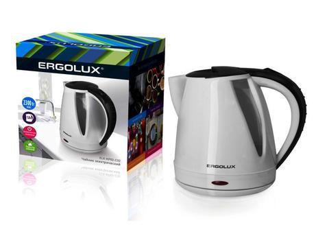 Чайник Ergolux ELX-KP02-C32 белый/черный