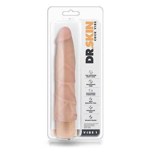 Телесный вибратор Cock Vibe 1 - 22,8 см.