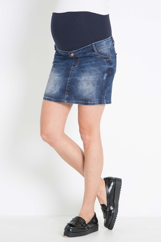 Юбка для беременных джинсовая 07827 синий