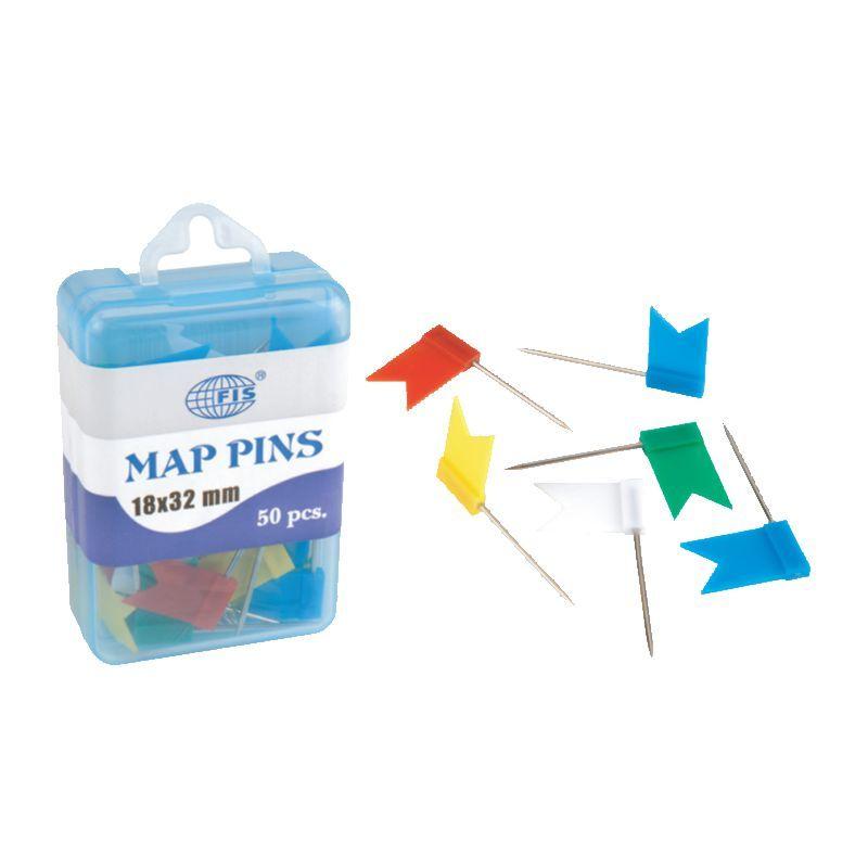 Канцтовары FIS Кнопки FSDPJ9053 FLAG PINS -