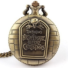 The Nightmare Before Christmas Quartz Large Pocket Watch