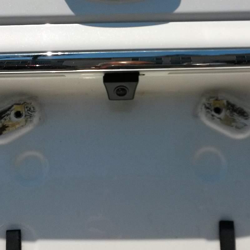 Установка камеры заднего вида Паджеро 4