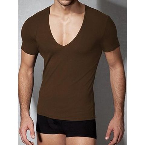 Мужская футболка коричневая Doreanse 2820