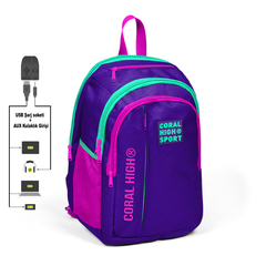 Çanta \ Сумка \ Bag CORAL HIGH SPORT SIRT ÇANTA(USB+AUX SOKETLİ)23245