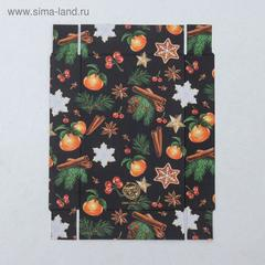 Коробка для кондитерских изделий «Новогодняя», 17 × 12 × 3 см