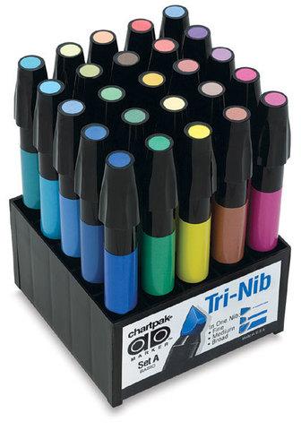 Набор маркеров CHARTPAK BASIC, основные цвета, 25 цветов