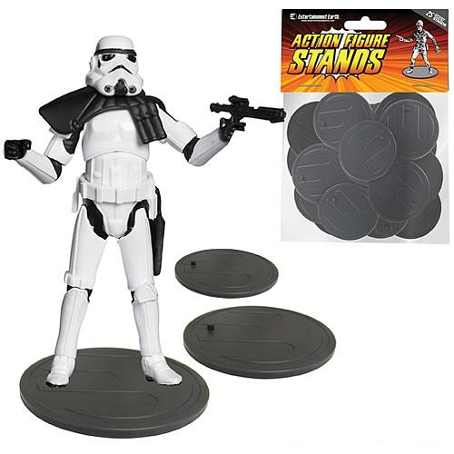 SW - ACTION FIGURE DISPLAY STANDS GRAY